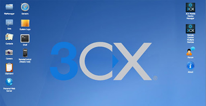 3CX lets you control your Android device and make calls from your PC